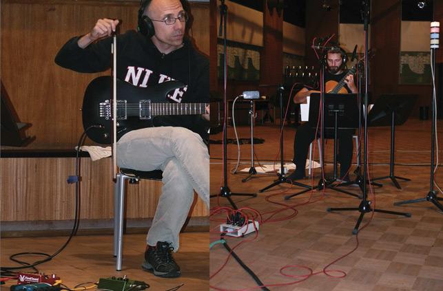 Ronny Wiesauer and Kostas Tosidis recording Marios Joannou Elia's