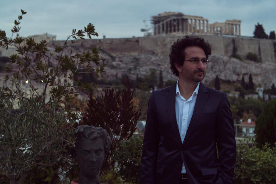 Marios Joannou Elia and Mikis Theodorakis in Acropolis, Athens 2016 (Photo © Kostis Films)