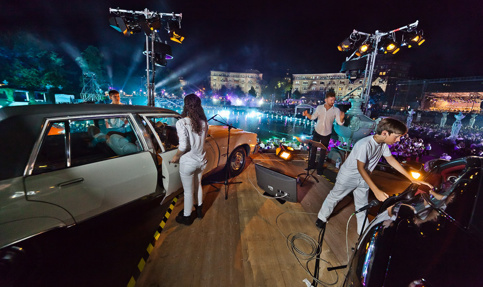 World Premiere of the Car Orchestra by Marios Joannou Elia (Photo © Ralph Larmann)