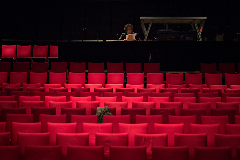 Marios Joannou Elia rehearsing at Mozarteum Salzburg (Photo © Fivos Salahas and SensoReye Production)