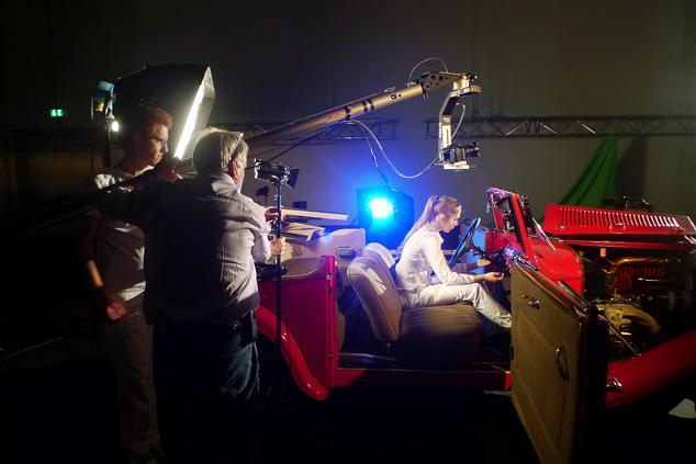Marios Joannou Elia's car orchestra filmed - here an Adler Trumpf (Photo © Horst Hamann)