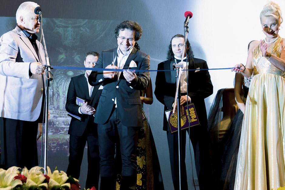 Marios Joannou Elia with Alexander Morosow (left) at Music Open Pafos, 2013 (Photo © Larkos)