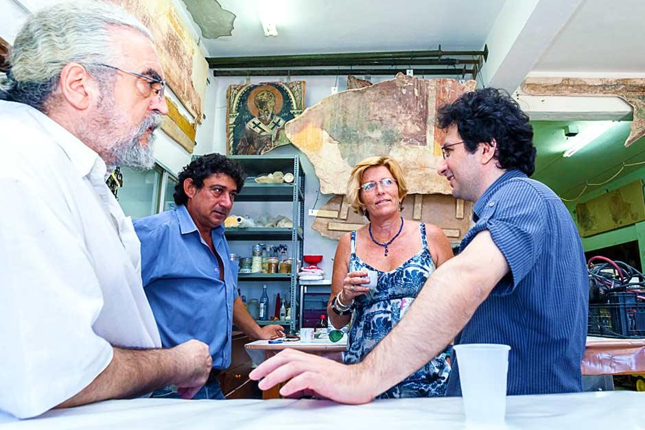 Christos Christou (left) and Marios Joannou Elia, 2013 (Photo © Larkos)