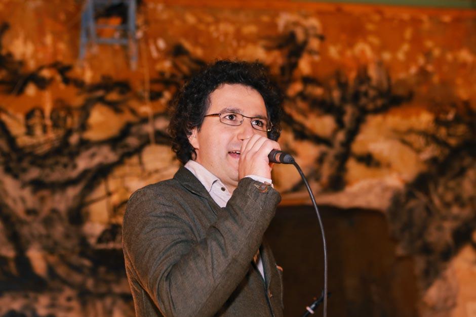 Marios Joannou Elia at Othello-Rebirth Exhibition 2013 (Photo © Kostis Films)