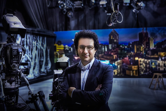 Marios Joannou Elia Artistic Director of the European Capital of Culture 2017 at the CyBC Film Studio (Photo © Kostisfilms, London)