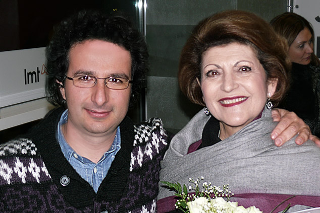 Marios Joannou Elia with Androulla Vassiliou, the European Commissioner for Education, Culture, Multilingualism and Youth, in Riga 2014