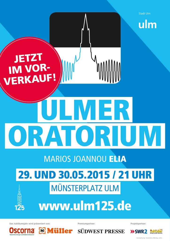Marios Joannou Elia: Ulmer Oratorium (poster of postponed performance, May 2015, © Stadt Ulm)