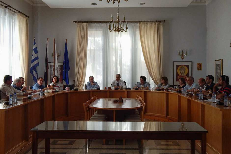 Marios Joannou Elia at Pafos Municipality (Photo © Municipality of Pafos)
