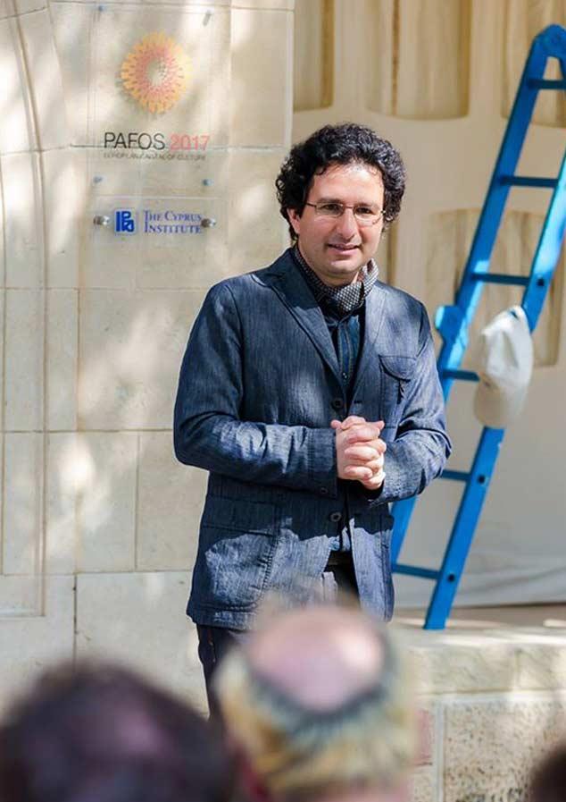 Marios Joannou Elia launching Pafos2017's Open Stage, April 2014 (Photo © Larkos)