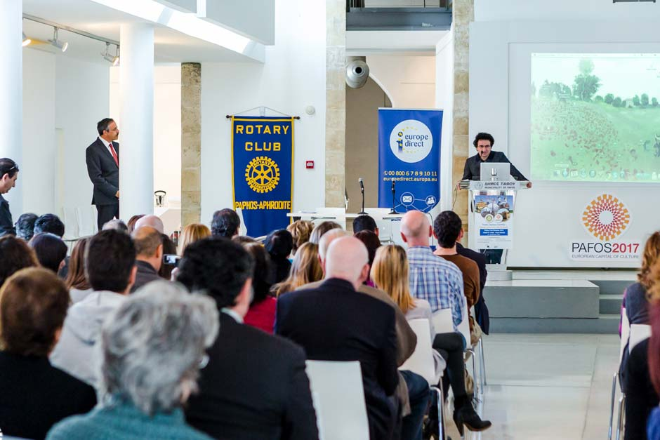 Marios Joannou Elia at Pafos2017 Open Speech Contest (Photo © Larkos)