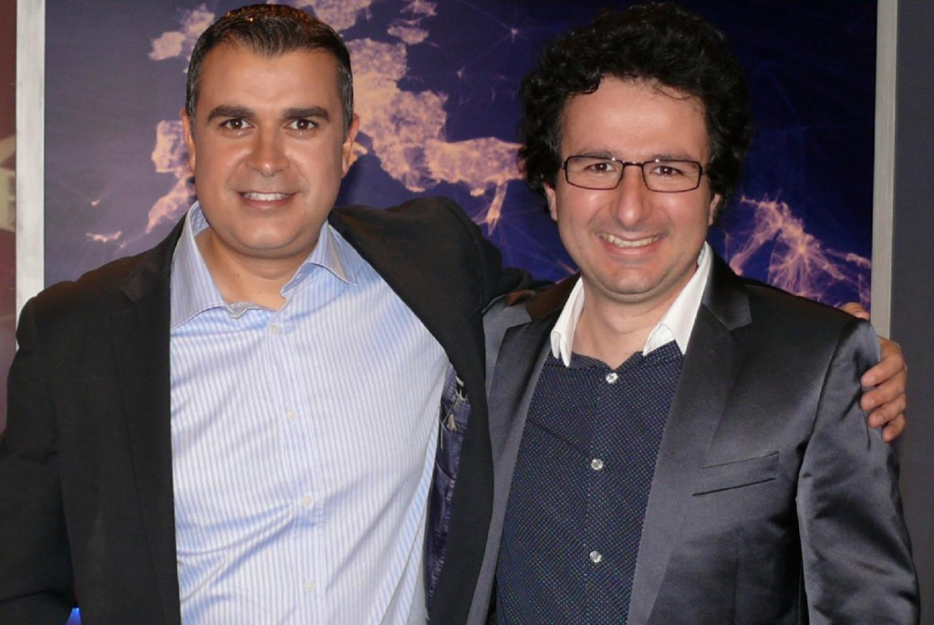 Marios Joannou Elia and Nikitas Nikita at Sigma TV