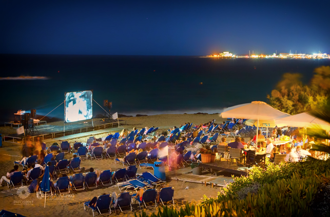 Marios Joannou Elia, Pafos2017 and the See-Fest - Open Air Cinema ot the Beach  (Photo © Larkos)