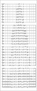 Marios Joannou Elia: Ulmer Oratorium - Score sketch for 32 voices (Score © Marios Joannou Elia)