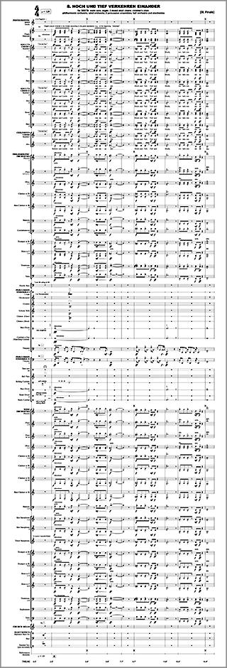 """Marios Joannou Elia: Excerpt from """"VIII. HOCH UND TIEF VERKEHREN EINANDER"""" (Finale) (Score © Marios Joannou Elia)"""