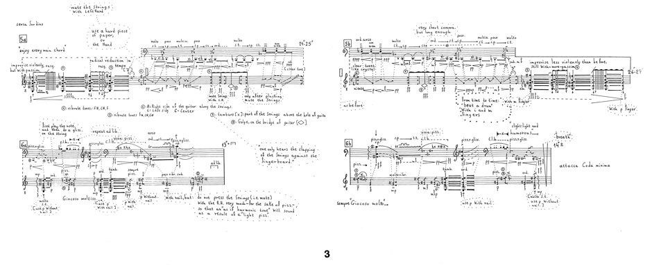 Excerpt from Im Spiegel for violoncello and guitar (p. 3).