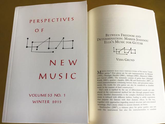 Marios Joannou Elia - Perspectives of New Music